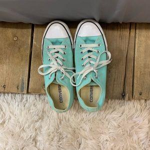 Practically new Tiffany blue converse